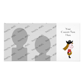 Pirate Cartoon Character. Custom Photo Card