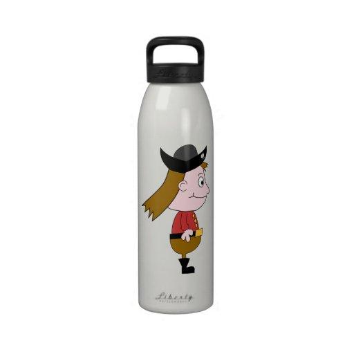 Pirate Cartoon Character. Reusable Water Bottles