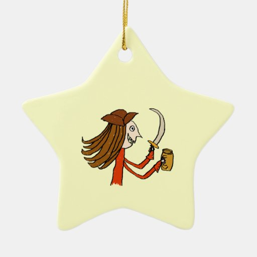 Pirate Cartoon. Christmas Ornament