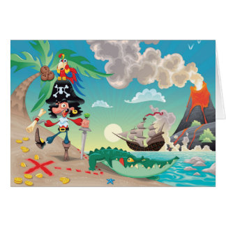 Pirate Cartoon Greeting Card