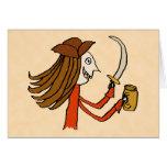 Pirate Cartoon. Greeting Cards