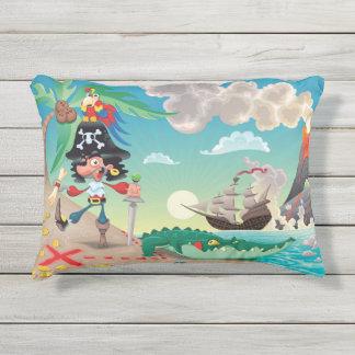 Pirate Cartoon Outdoor Accent Pillow