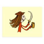 Pirate Cartoon. Post Cards