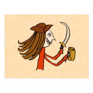 Pirate Cartoon. Postcard