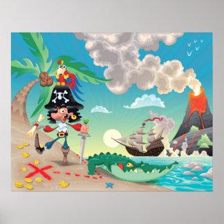 Pirate Cartoon Poster