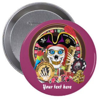 Pirate Casino 1 IMPORTANT Read About Design Pinback Buttons