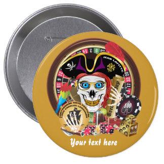 Pirate Casino 1 IMPORTANT Read About Design Pinback Button