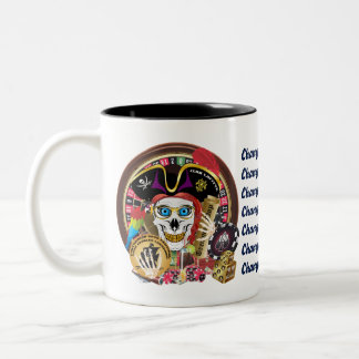 Pirate Casino 1 IMPORTANT Read About Design Two-Tone Coffee Mug