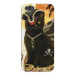 Pirate Cat Black Cat iPhone 4 Case