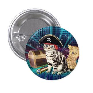 pirate cat button