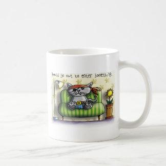 Pirate cat couch coffee mug