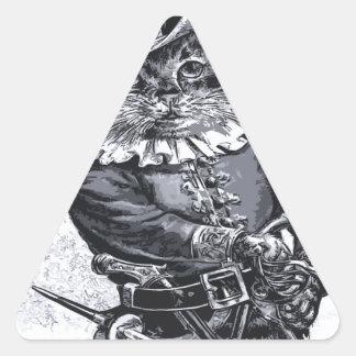 Pirate cat Design Triangle Sticker