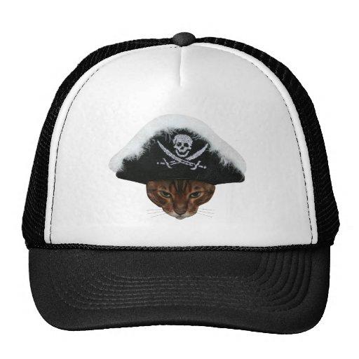 Pirate Cat Mesh Hat