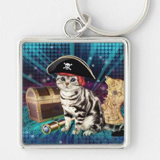 pirate cat keychain