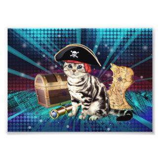 pirate cat photo print