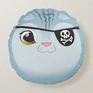 Pirate Cat Pillow! Round Pillow