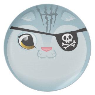 Pirate Cat Plate