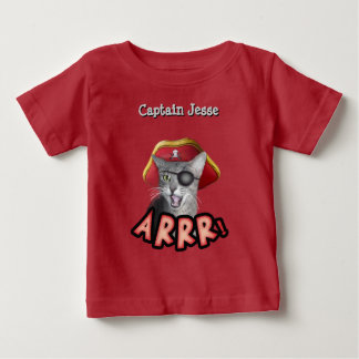 Pirate Cat Shirt with Baby's Name