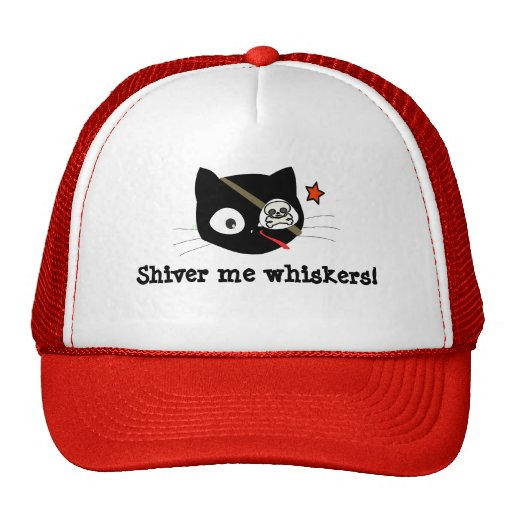 Pirate Cat Shiver Me Whiskers! Hats