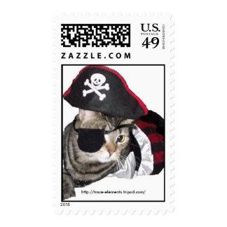 Pirate Cat Stamp