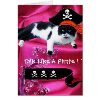 PIRATE CAT ,Talk Like A Pirate Day Cards
