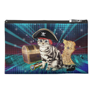 pirate cat travel accessory bag