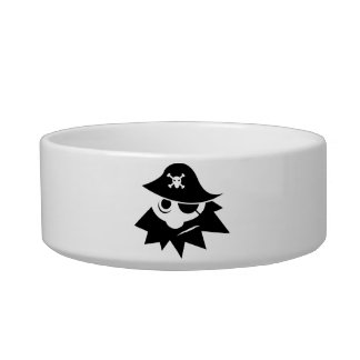 Pirate Cat Water Bowls