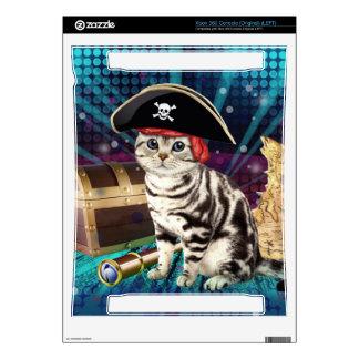 pirate cat xbox 360 console decal