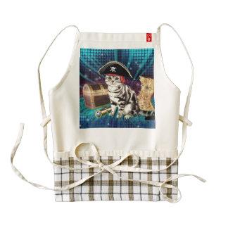 pirate cat zazzle HEART apron