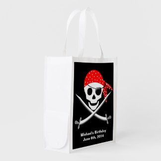 PIRATE CATCH ALL BIRTHDAY BAG GROCERY BAGS
