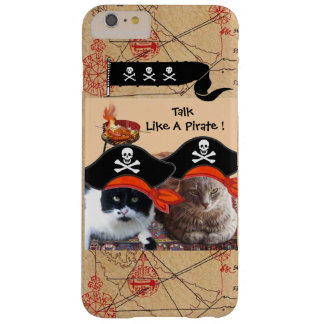 PIRATE CATS ANTIQUE PIRATES TREASURE MAPS AND FLAG BARELY THERE iPhone 6 PLUS CASE