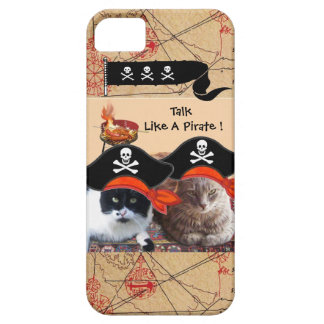 PIRATE CATS ANTIQUE PIRATES TREASURE MAPS AND FLAG iPhone 5 CASE
