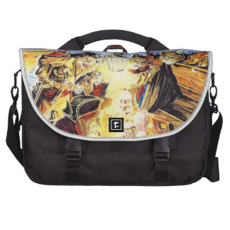Pirate Cats Find The Buried Treasure Laptop Messenger Bag