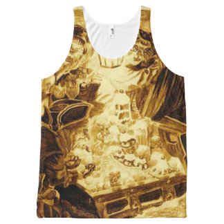 Pirate Cats Find The Loot All-Over-Print Tank Top