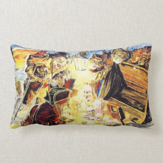 Pirate Cats Find The Loot Lumbar Pillow