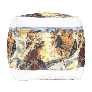 Pirate Cats Find The Loot Outdoor Pouf