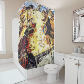 Pirate Cats Find The Loot Shower Curtain