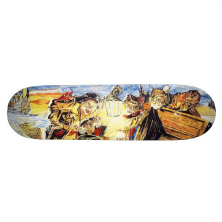 Pirate Cats Find The Loot Skateboard Deck
