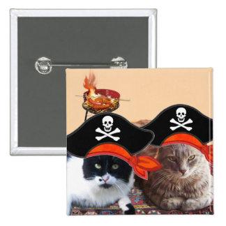 PIRATE CATS ,Talk like a Pirate Day Pinback Button