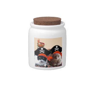 PIRATE CATS ,Talk like a Pirate Day Candy Dishes