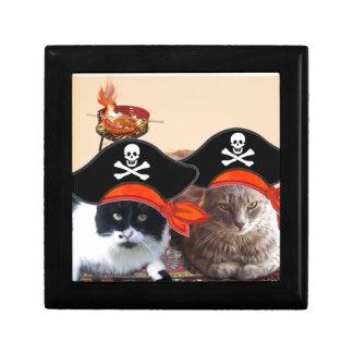 PIRATE CATS ,Talk like a Pirate Day Jewelry Box