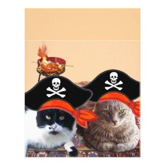 PIRATE CATS ,Talk like a Pirate Day Letterhead