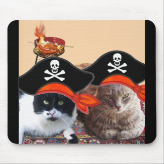 PIRATE CATS ,Talk like a Pirate Day Mouse Pad
