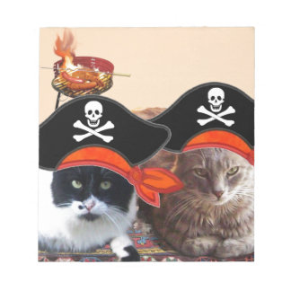 PIRATE CATS ,Talk like a Pirate Day Notepad