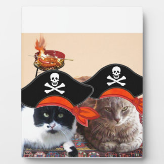 PIRATE CATS ,Talk like a Pirate Day Plaques