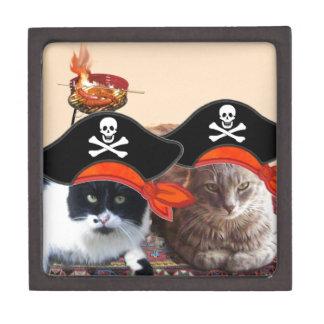 PIRATE CATS ,Talk like a Pirate Day Premium Keepsake Boxes