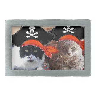 PIRATE CATS ,Talk like a Pirate Day Rectangular Belt Buckle