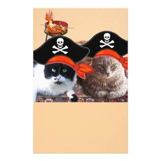 PIRATE CATS ,Talk like a Pirate Day Stationery