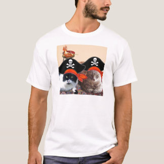 PIRATE CATS ,Talk like a Pirate Day T-Shirt