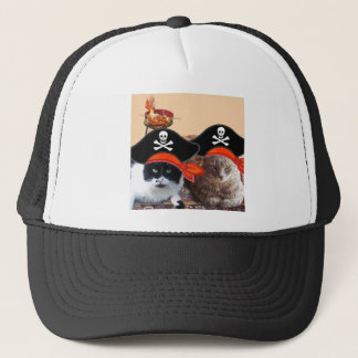 PIRATE CATS ,Talk like a Pirate Day Trucker Hat